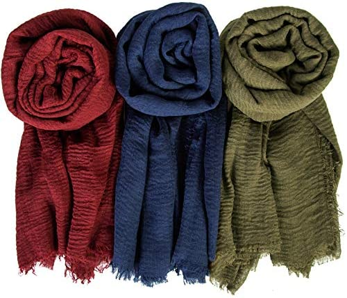 Chalier 3 Pcs Women Scarf Shawl for All Season Fashion Soft Scarves for Women Lightweight Head product image