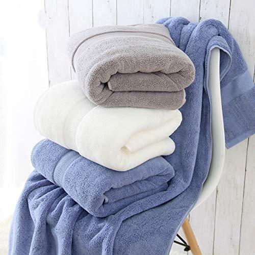 Toalla de baño de 900 g, 80 x 160 cm de grosor, de algodón egipcio, ecológica, toalla de playa para adultos (color azul)