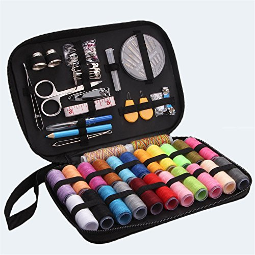 Sewing Kit, Vipe Sewing Supplies Kit with Scissors, Thimble, Thread, Needles, Tape Measure, Carrying Case and Accessories for Beginners,Traveller, Emergency, Whole Family to Mend and Repair