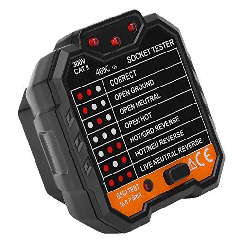 rilevatore di interruzioni di corrente Tester elettrico rilevatore di prese 48-250 V 45-65 Hz per case con display digitale(European regulations)