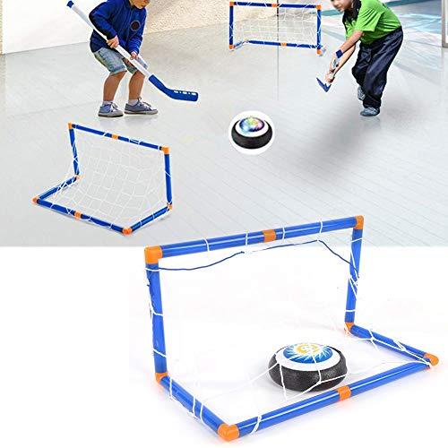 Jungen Hockey Hover Set,Air Power Training Ball Hockeyspiel spielen Hovering Hockey Toys Set Indoor-Spiele für Kinder Sportgeschenke Spielzeug für 3 4 5 6 7 8 9 10 11 12 Jahre alte Jungen (1#)
