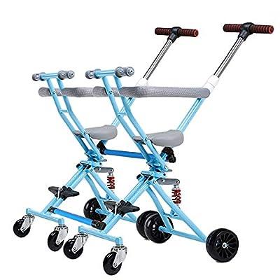 CHEERALL Cochecito Doble Plegable para Dos carritos para niños Cochecito para bebés Desmontable Doble Fácil de Transportar Cuatro Ruedas livianas para niños de 1 a 5 años de Edad