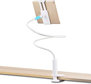 besthoby Gooseneck Tablet Stand Holder,Flexible arm Phone Stand Holder,Used Android Smartphone,Tablet so on(White)