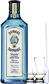 Bombay Sapphire Gin 1,0 Liter  2 Glencairn Gläser und Einwegpipette