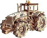 EWA Eco-Wood-Art Traktor Tractor 3D mecánico de Madera-Rompecabezas para Adultos y Adolescentes-Montaje sin pegamento-358 Piezas, Color Naturaleza