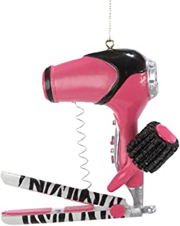 Christmas Ornament Blow Dryer with Curling Iron Ornament by Kurt Adler