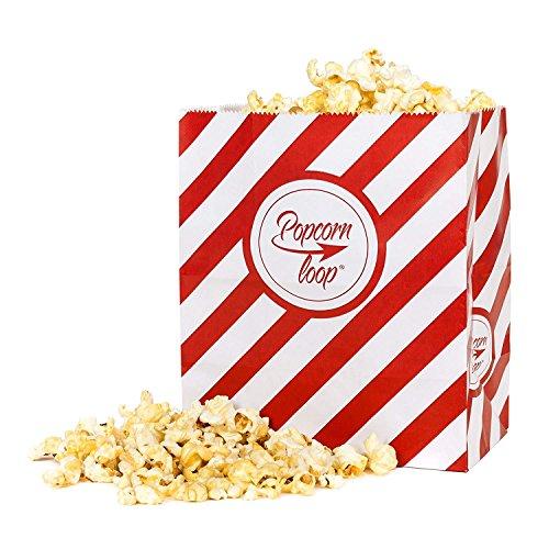 Popcorntüten 50 Stück M Popcorn Box Tüten Candy Bar Tüte Hochzeit Papier Süßigkeiten Boxen für Party Papier Behälter Rot Weiß gestreift Snackbox Geschenk Kinder Pommes