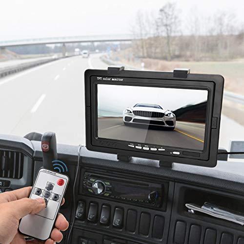 Grabadora de Video de Coche con disipación de Calor de Carcasa de Resina ABS Grabadora de conducción Digital DVR Ajustable con Pantalla LCD de 7'