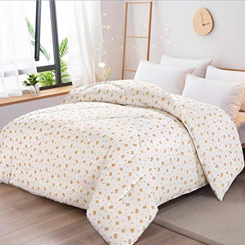 ZCRFYY Cotton quilt, cotton quilt, student quilt, spring, autumn and winter quilt, cotton wool mattress, thicker, warm cotton 150X200CM,D,1kg