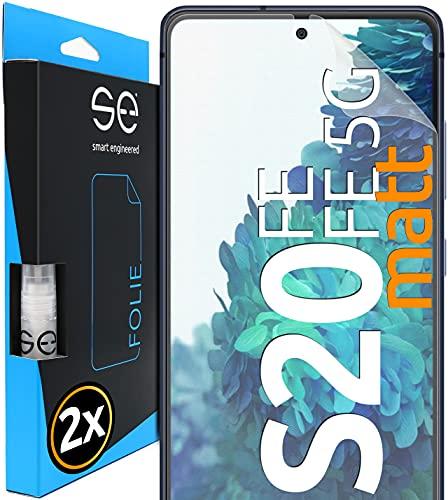 [2 St.] Entspiegelte 3D Full Screen Schutzfolie kompatibel mit Samsung Galaxy S20 FE und S20 FE 5G, Matte HD Displayschutz-Folie, Anti-Kratzen, Anti-Bläschen, Panzerglasfolie, Alt. Panzerglas