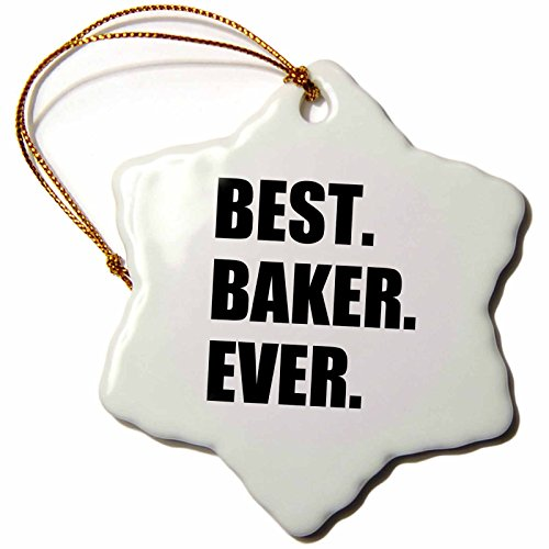 3dRose Best Baker Ever-Bold Black Text-Hobby Work and Job Pride Gifts...