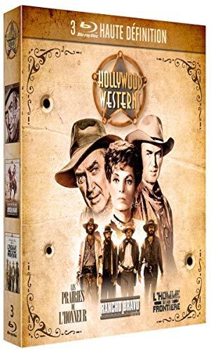 3 Westerns de légende : Rancho Bravo + l'homme sans frontière + Les Prairies de l'honneur [Blu-Ray]