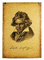 ポスター ルートヴィヒ・ヴァン・ベートーヴェン ベートーベン ヴァン・ベートーヴェン Beethoven B3サイズ SE02