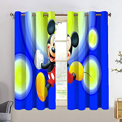 GY Decorative Curtains Mickey Minnie Mouse Curtains for boy Bedroom Blackout Window Curtain W55 x L63 Inch