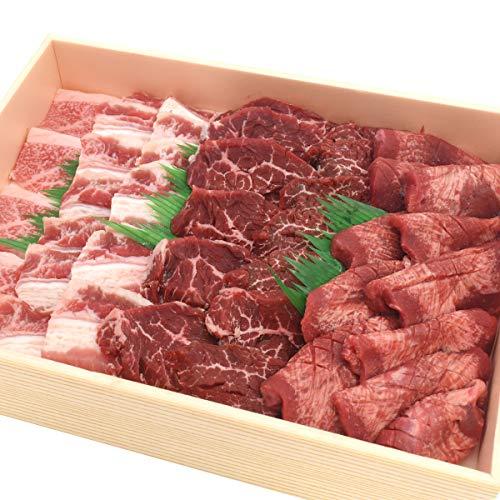 焼肉 牛タン カルビ ハラミ ( サガリ ) 3部位4種 1kg 米沢牛 入り 食べ比べ 焼肉セット バーベキュー 肉セット お取り寄せグルメ ギフト 熨斗対応 クール便 冷凍 お届け