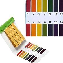 Cikuso 3 set 240 Tiras Professional 1-14 pH papel de tornasol tiras de prueba ph cosmeticos agua suelo pH Test Tiras de papel con tarjeta de control