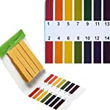 RETYLY 3 set 240 Tiras Professional 1-14 pH papel de tornasol tiras de prueba ph cosmeticos agua suelo pH Test Tiras de papel con tarjeta de control