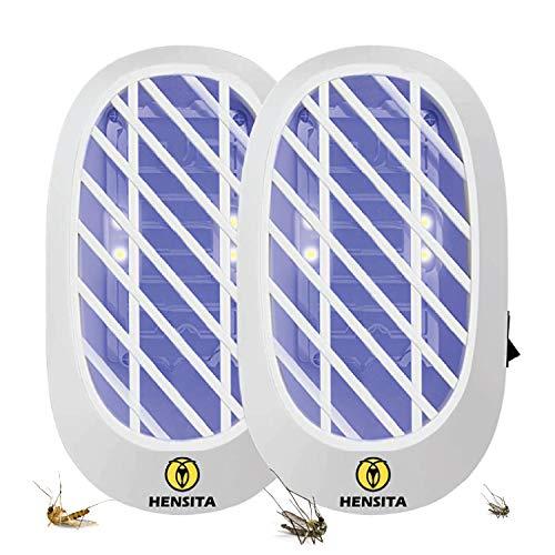 HENSITA Tueur d'insectes d'intérieur - Éliminateur d'insectes puissant et écologique - Tueur d'insectes 2 paquets d'insectes électriques enfichables d'intérieur (blanc)