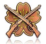 Don Flyee レプリカ 大日本帝国 旧日本軍 陸軍 小銃射撃徽章 モチーフ ピンバッジ バタフライクラッチ C0007