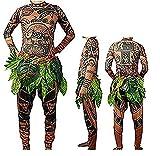 Mona Maui - Disfraz de Halloween, camiseta y pantalón de hoja para niños,...
