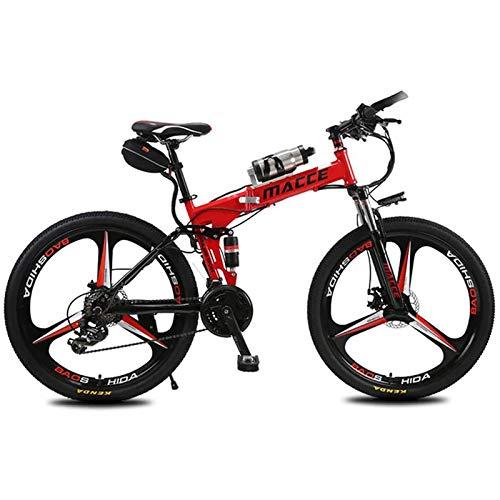 PLAYH Bicicletas Eléctricas Bicicleta De Montaña Plegable, 26 Pulgadas 36V / 8Ah Bicicleta Eléctrica para Adultos con Iones De Litio Extraíble, 3 Modos De Ciclismo