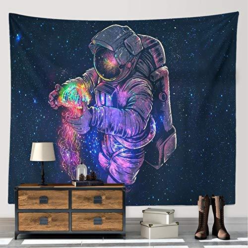 Astronauta en el espacio exterior tapiz India pared moda playa manta manta picnic alfombra yoga mat hippie colcha