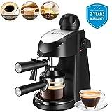 AICOOK Kaffeemaschine, espresso, 5 bar Dampfdruck Halbautomat Hause Dampf-Kaffeemaschine mit Milchschaum Düse für Espresso Cappuccino Latte, 4 Tasse, 800W, BPA frei