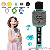 TRNSUNL Kids Karaoke Machine,Wireless Karaoke Play Microphone for Kids with ECHO and Voice Changer,Portable Microphone Toys for Kids Girls Gifts,Best Birthday Presents for 3-18Yrs Old Girls Boys