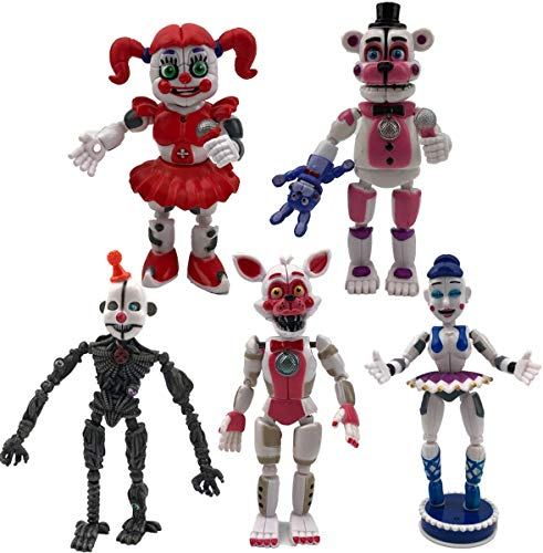 5 PCS Five Nights at Freddy's Game FNAF Figures Set, Funtime Sister Location Circus Baby Ennard Ballora Sister Gift Toys