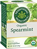 Traditional Medicinals Organic Spearmint Herbal Tea, 16 Tea Bags (Pack of 6)