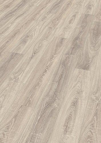 EGGER Home Laminat hell grau Holzoptik - Toscolano Eiche hell  EHL015 (8mm, 1,994m²) Klick Laminatboden | Bodenbelag