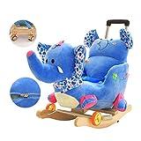 Schaukelpferd XMJ Baby Holz Plüsch Kid Rocker Pferdebaby-Rocker Chair-Spielzeug for Baby 1-4 Jahre Garten Indoor- und Outdoor, Farbe: A (Color : B)