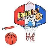 Defeat Juego de canasta de baloncesto de pared con red – Ballanlanlage para montaje en pared para niños Basketball Backboard Incluye Canasta y Red Basketballring Interior Exterior