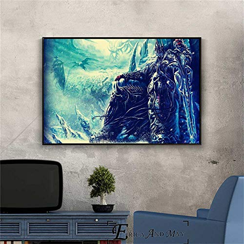 1000pcs_Wooden Adult Jigsaw_The Lich King Wow Video Game_Mini Jigsaw, Adult Jigsaw Game, Puzzle Difícil_50x75cm