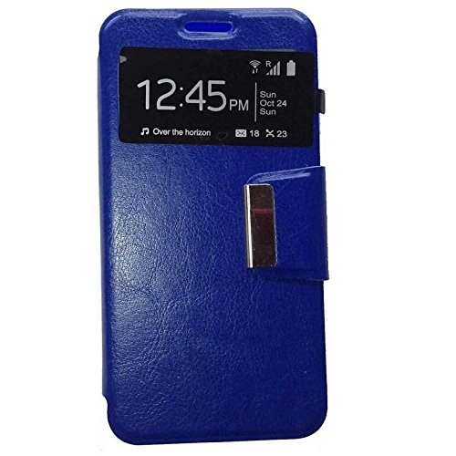 Todobarato24h Funda Libro Ventana Azul ALCATEL One Touch Pop 3 (5.5 Pulgadas)