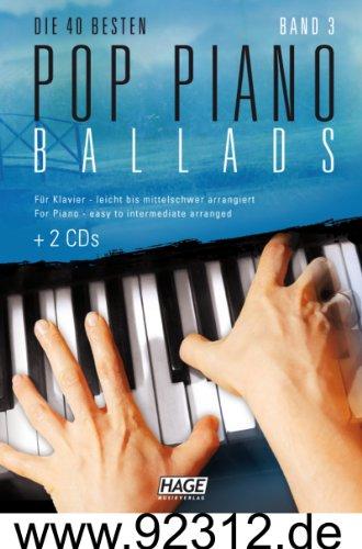 Piano Pop Ballads 3+ 2CD \'s avec Rose, Rihanna, Robbie Williams, argent lune, Lana Del Rey, nickel Back, Adele, One Republic, Leona Lewis, Bruno Mars, Birdy, Beyoncé, Unheilig, etc.
