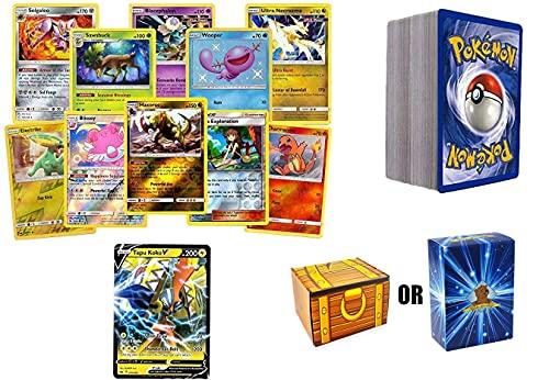 100 Pokemon Card Rares and Foils & 1 Random V Ultra Rare Card!...