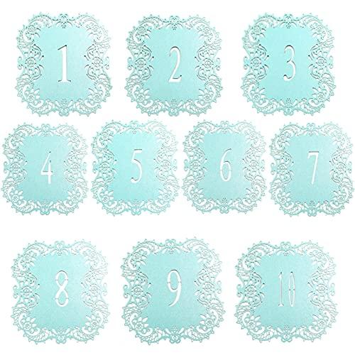 Estilo destacado Fiesta festiva Decoración de la boda ¡NUEVO! 10pcs / set Tarjeta de papel Números de la tabla de la boda Tarjetas Tarjeta Tarjeta Vintage DIY Decoración de la boda Evento Suministros