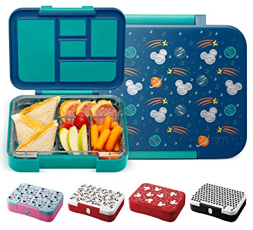 Simple Modern Porter Kids Bento Box for Girls, Boys, Toddlers BPA-Free Leakproof Lunch Container with 5 Compartments, 30oz, Disney: Mickey Space