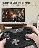 Fosmon (x4) Remplacement Analog de Bouchons Capuchons de Joystick Thumbstick en Silicone,étui Housse de Protection Pouce Thumb Grip Caps pour Playstation PS4/PS3,Xbox,Nintendo Manette Contrôleur-Noir