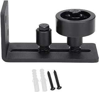Am/éliorez les accessoires de quincaillerie de porte de grange coulissante de guide de plancher r/églable noir