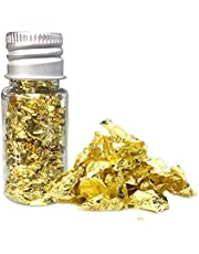 Vashye Guldflingor, 2 flaskor 10 ml ätbart bladguld, har skönhetsfunktion och kan användas som en skönhetsmask, lämplig för att dekorera tårtor, godis, choklad, desserter