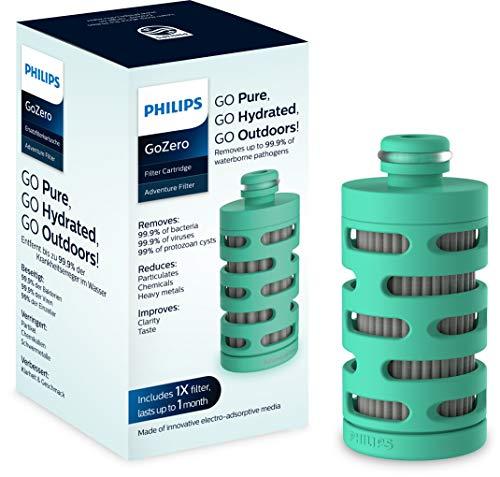 Philips GoZero adventure Cartouche Filtrante AWP294 x1 pour Gourde Philips GoZero Active - Filtre les Bactéries, Virus et Agents Pathogènes