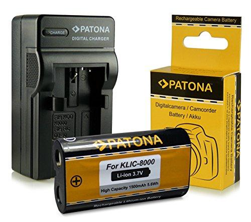 Cargador + Batería Kodak Klic-8000 / Ricoh DB-50 para Kodak EasyShare Z612   Z712is   Z812is   Z8612is   Z1012   Z1012is   Z1015is   Z1085is   Z1485is   Z8612is   Zx1   RICOH Caplio R1   R1S   R2   RZ1   R-1