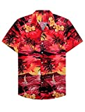 Alimens & Gentle 100% Cotton Regular Fit Short Sleeve Casual Hawaiian Shirt for Men - 4XL