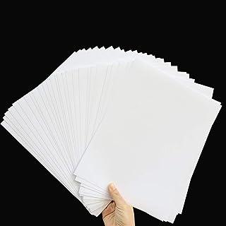 AWEELON 30Pcs Printable Vinyl Sticker Paper for Inkjet Printer, Matte White