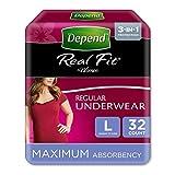 Depend Active Fit–Pañales para adultos para mujer, máxima absorción (el...