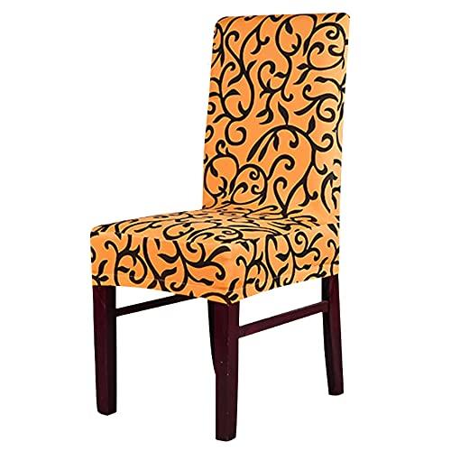 Trintion Stuhlhussen 10 Stück Universal Stretch Stuhlbezüge Schonbezug für Stühle Abnehmbare Stuhlbezug Sitz Stuhl Esszimmer Überzug Stuhlüberzu für Bankett Deko Und Hochzeit Partys(Gelb + Schwarzes)