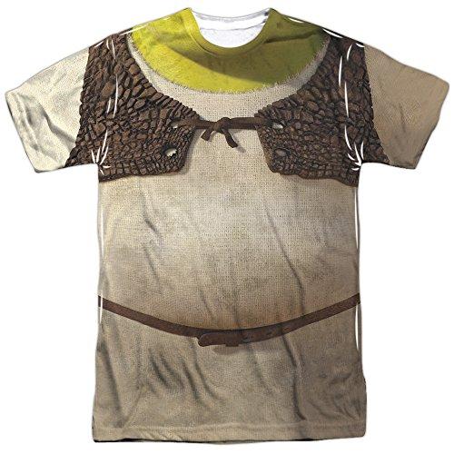 Shrek Costume Mens Sublimation Shirt Multicolor 3X