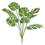 Famibay Hoja de Palmera Tropical Planta Artificial 70cm/27.5inch Monstera Deliciosa Ramas Artificial Verde Arbusto Filodendro Plantas Artificiales para Macetas Interior Exterior Hogar Oficina Sala